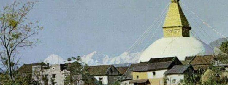 Rare Old Photos of Boudhanath Stupa, Kathmandu, Nepal