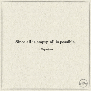 Since all is empty, all is possible