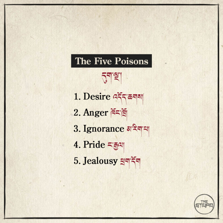 The Five Poisons དུག་ལྔ་།